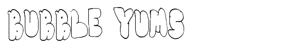 Bubble Yums font preview