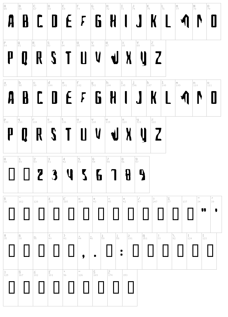A font for the computer people font map