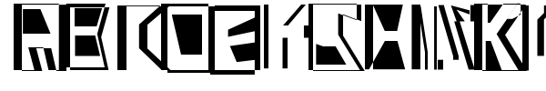 Abstract Abomination font preview