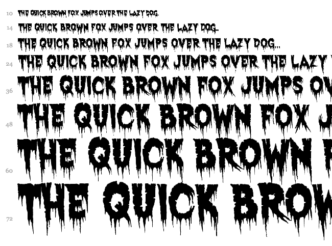 Exquisite Corpse font waterfall