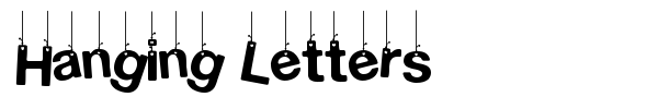 Hanging Letters font preview