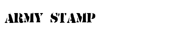 Army Stamp font preview