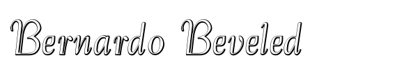 Bernardo Beveled font preview