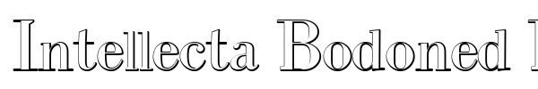 Intellecta Bodoned Beveled font preview