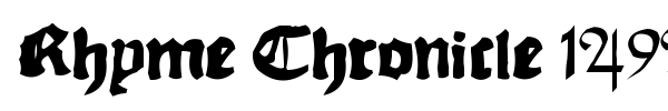 Fonte Rhyme Chronicle 1494