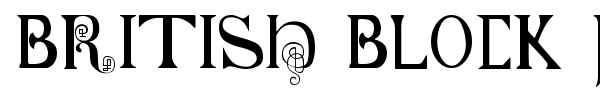 Fonte British Block Flourish, 10th c.