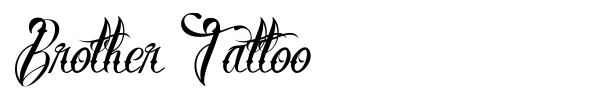 Brother Tattoo font preview