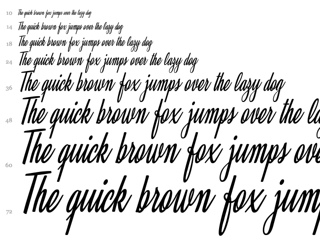 Clarice font waterfall