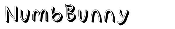NumbBunny font preview