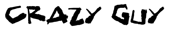 Crazy Guy font preview