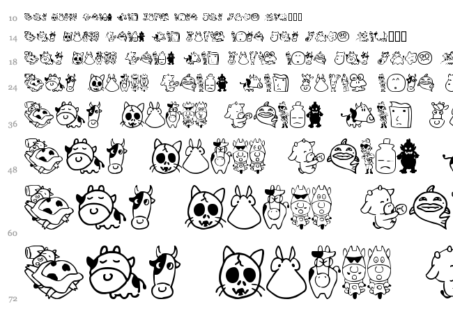 Sakabe Animal 03 font waterfall