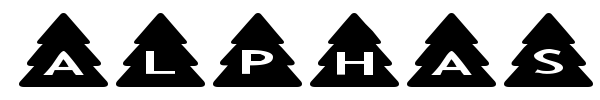 Fonte AlphaShapes Xmas Trees
